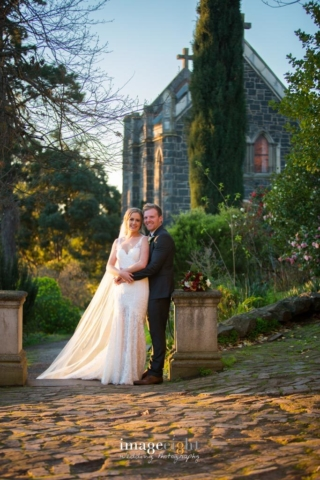 Hayley + Matthew at Montsalvat winter wedding
