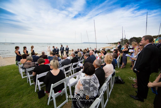Sail boats, water views - wedding venue