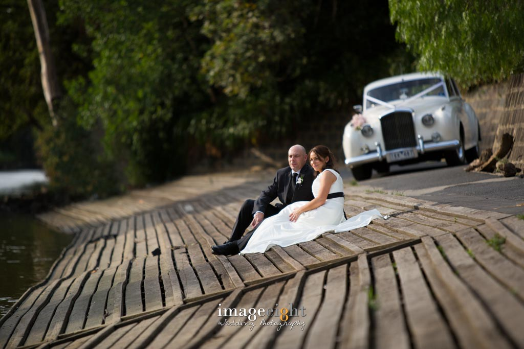 Ally & Anthony's Wedding pics at the Yarra River